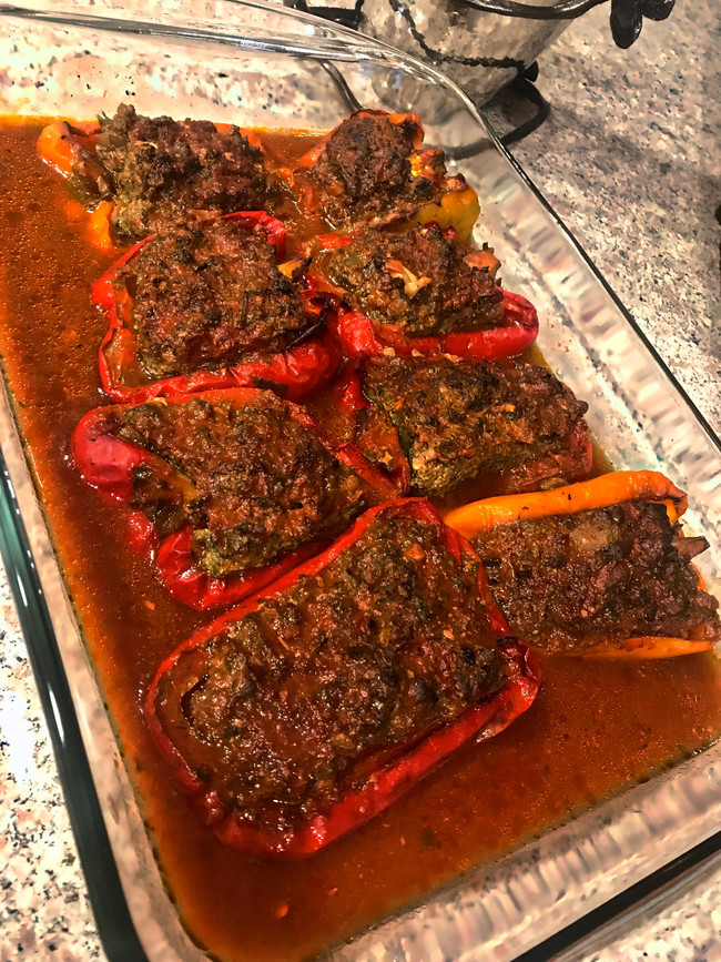 MIDDLE EASTERN CARB-FREE STUFFED PEPPERS