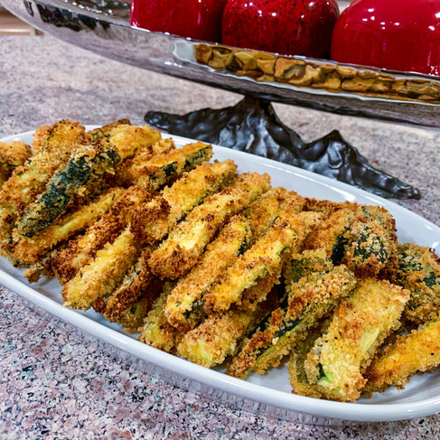CRISPY OVEN BAKED ZUCCHINI FRIES