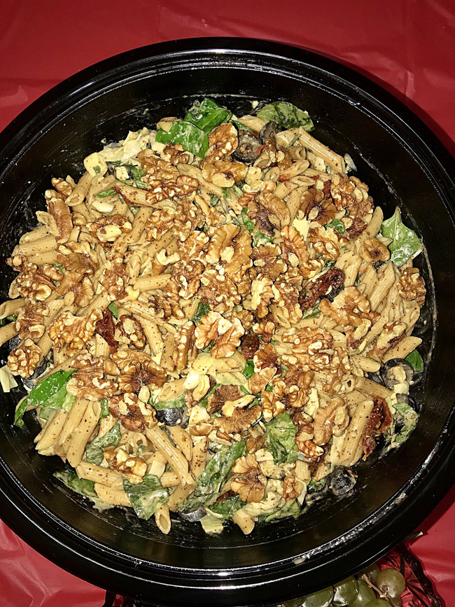 PASTA SALAD WITH SUN-DRIED TOMATOES, ARTICHOKES, AND OLIVES