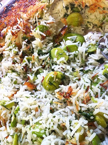 PERSIAN RICE WITH FAVA BEANS & DILL (BAGHALI POLO)