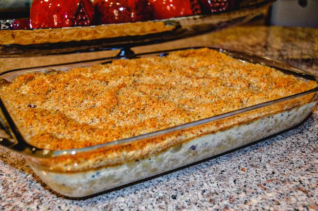 BAKED TRUFFLE & THREE CHEESE MAC 'N CHEESE