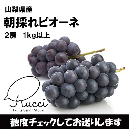 山梨県産 【ピオーネ】(2~3房 合計1kg)