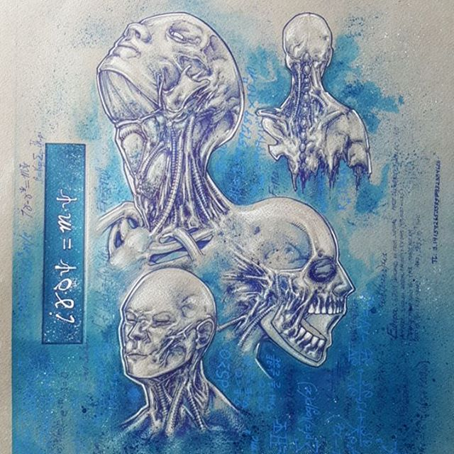 Heres a more completed shot of a piece i was working on a few weeks back _Antimatter_ blue pen and i