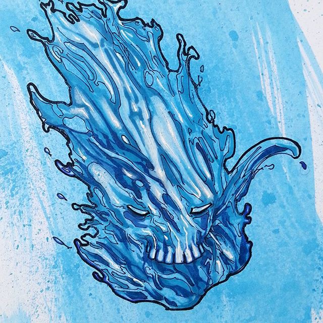 One of today's illustrations_Water character of a comic im working on.