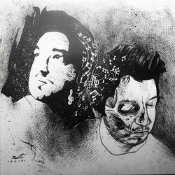 A double portrait i did of my buddy a couple years back #drawing #illustration #penandink #artpiece