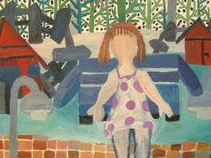 Flickan på bänken, 2008,