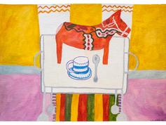 Dalahäst på kaffevagnen, 2015