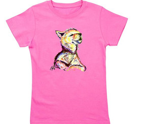 Neon Wolf Pup - Sample Product Design