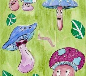 Mushroom Pattern - Paisley Toad Studio
