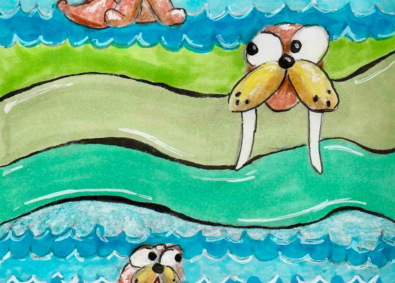Walrus Pattern - Paisley Toad Studio