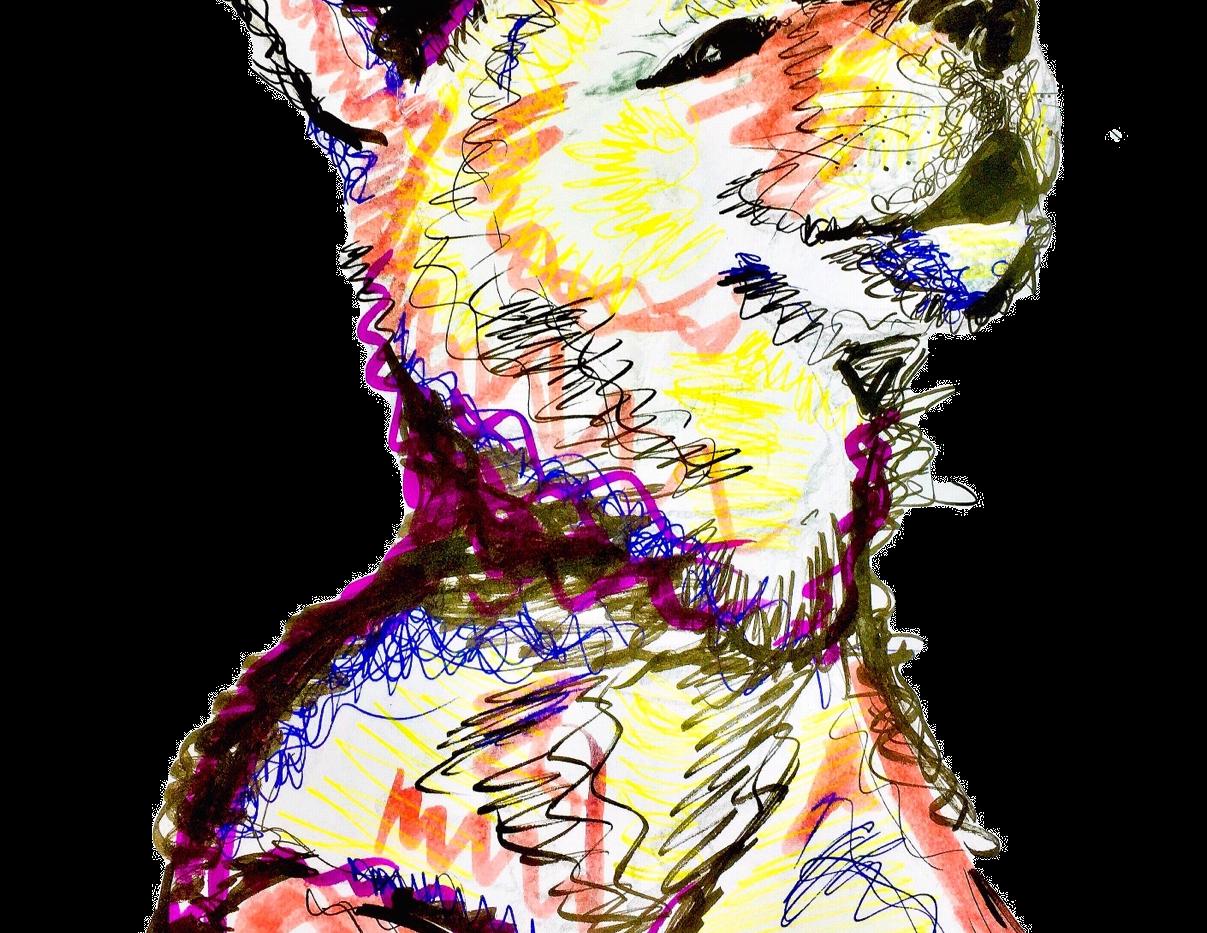 Neon Wolf Pup
