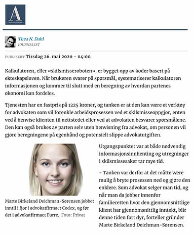 Advokatbladet - Advokatforeningen - skilsmissekalkulator