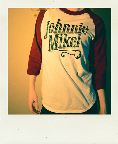 Vintage Johnnie Mikel Baseball Tee - Red