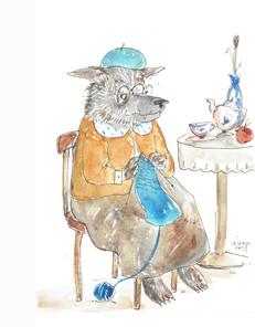 Wilk zjadl babcię