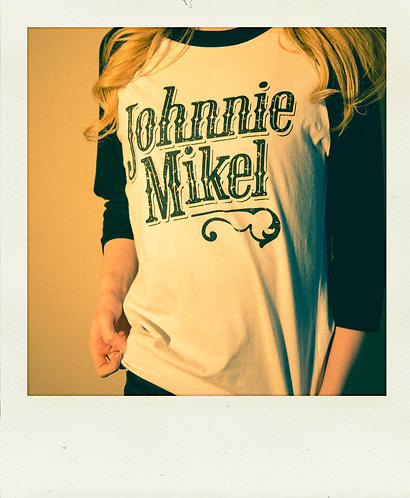 Vintage Johnnie Mikel Baseball Tee - Black