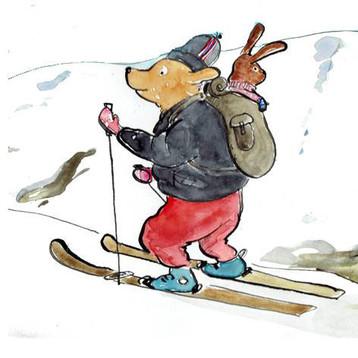 Bobik na skiturach