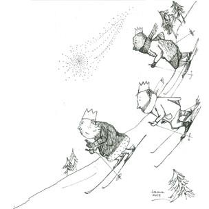 Trzej narciarze