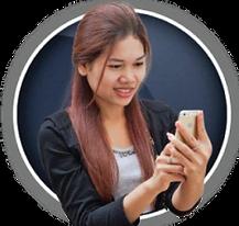 Girl mit Smartphone