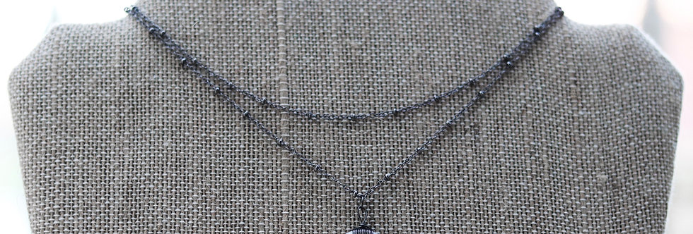 Double Layer Choker//Gunmetal