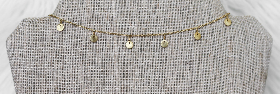 Dainty Dangle Choker//Gold