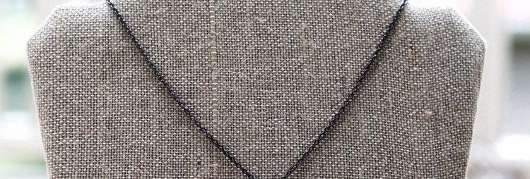 Gunmetal Horn Necklace