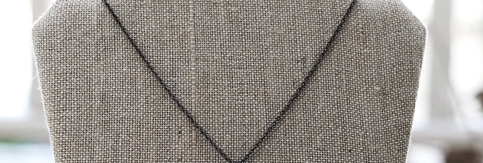 Pointed Gunmetal Necklace