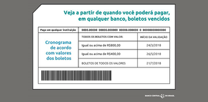 A partir de março, boletos de cobrança vencidos de R$ 800 ou mais poderão ser pagos em qualquer banco
