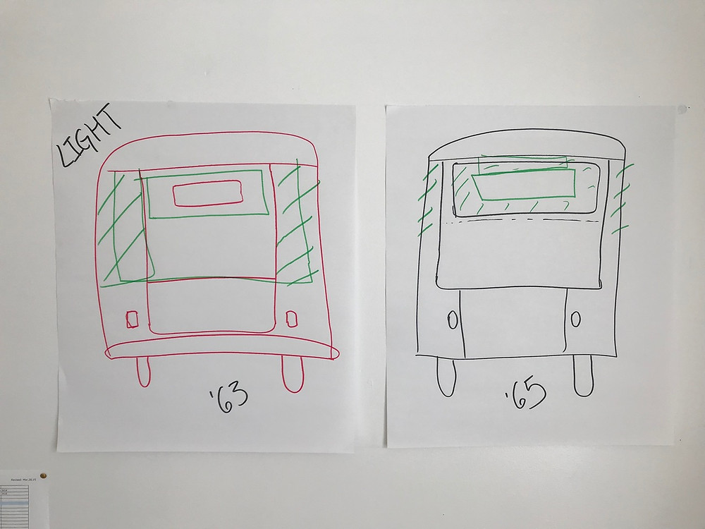 VW bus windows, 63 versus 65