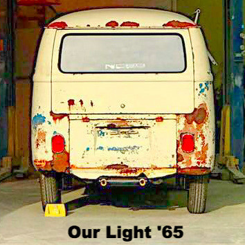 Larger window and hatch of a 1965 VW bus