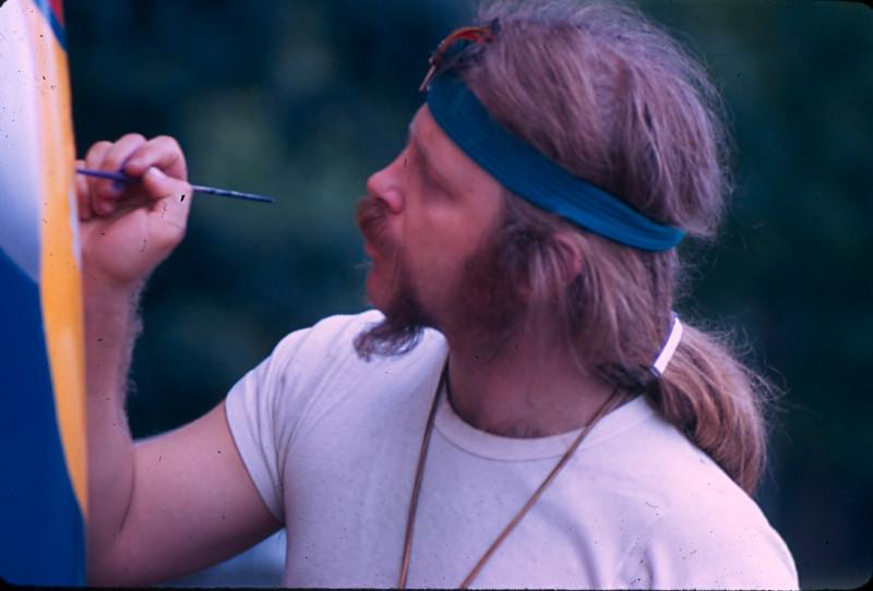 Bob Hieronimus painting the Woodstock Bus, Light