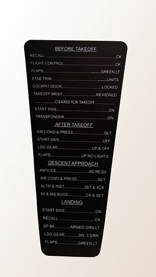 B737 Clipboard Sticker