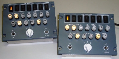 B737 ASP Audio Panel