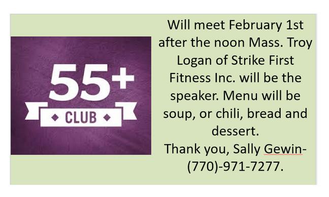 55+ Meeting
