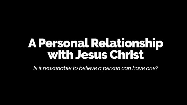 A 'personal relationship with Jesus Christ'