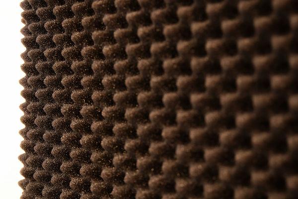 7_Detail of landscape 2, sound insulation material on stretcher (ca. 50 x 70 cm) 2020