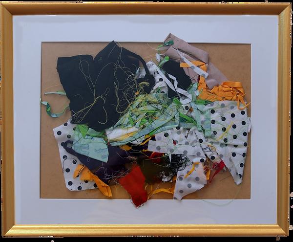8_Landscape 3, framed fabric remnants (40 x 50 cm) 2020