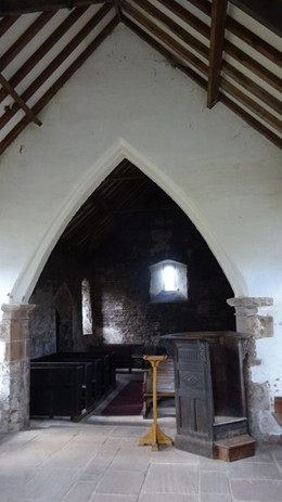 Llanrothal, interior, from the chancel.J