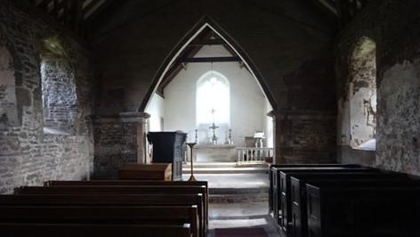 Llanrothal, interior from rear