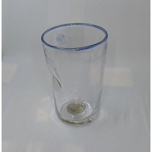 Thumbprint Clear Pint Glass