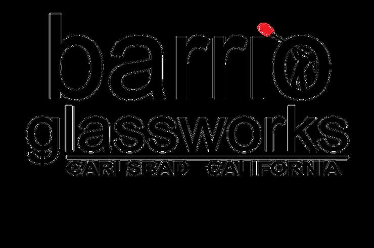 Barrio Girl glassblower logo transparent
