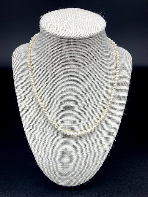 Fresh Water Baby Pearl Necklace - White