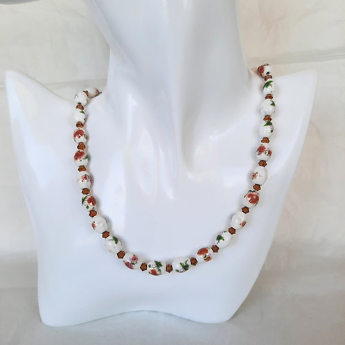 Flower Ceramic Bead Necklace