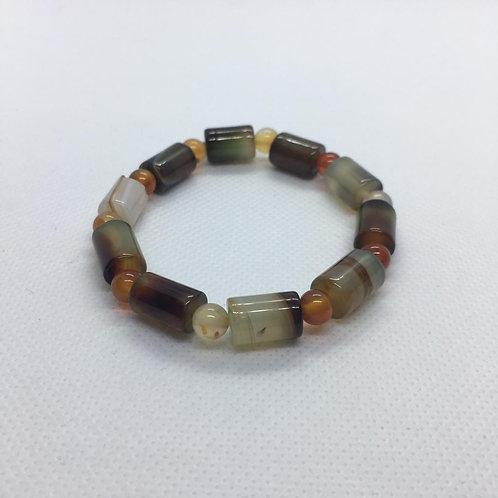 Agate Bracelet - Cylinder Shaped