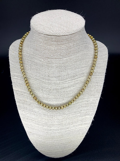 Fresh Water Baby Pearl Necklace - Gold