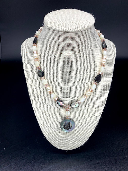 Fresh Water Mother of Pearl Shell Necklace