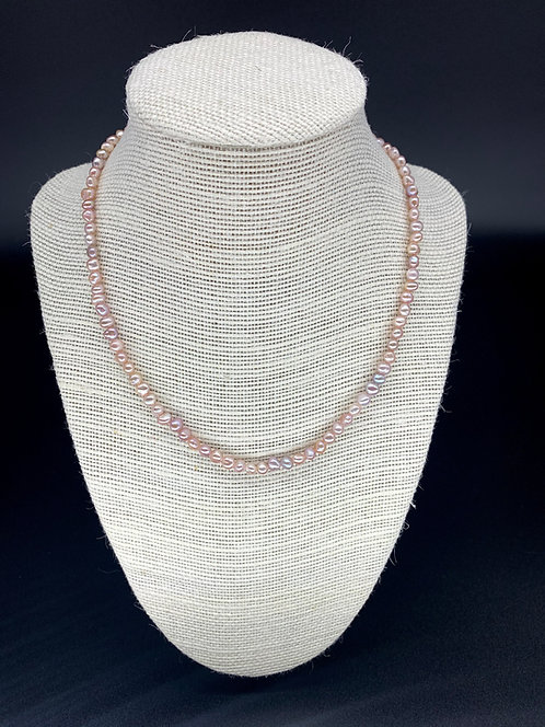 Fresh Water Baby Baroque Pearl Necklace - Light Lavender