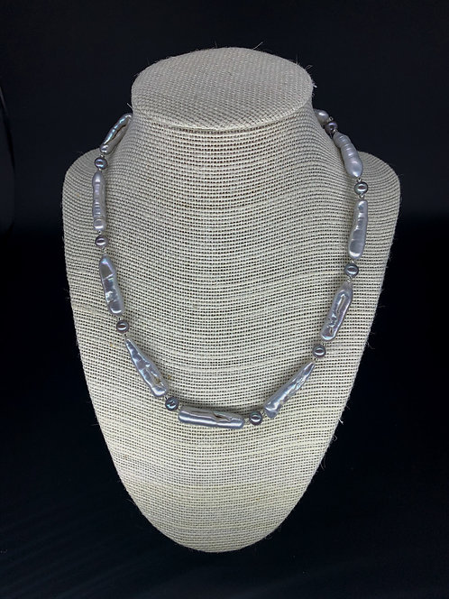 Fresh Water Stick Pearl Necklace - Lavender
