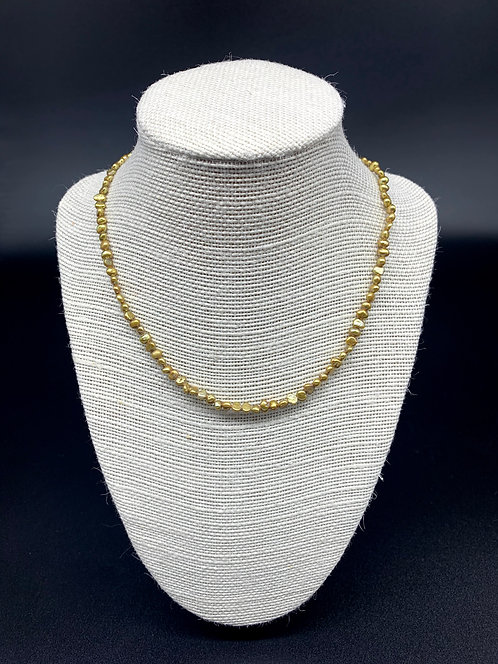Fresh Water Baby Baroque Pearl Necklace - Gold