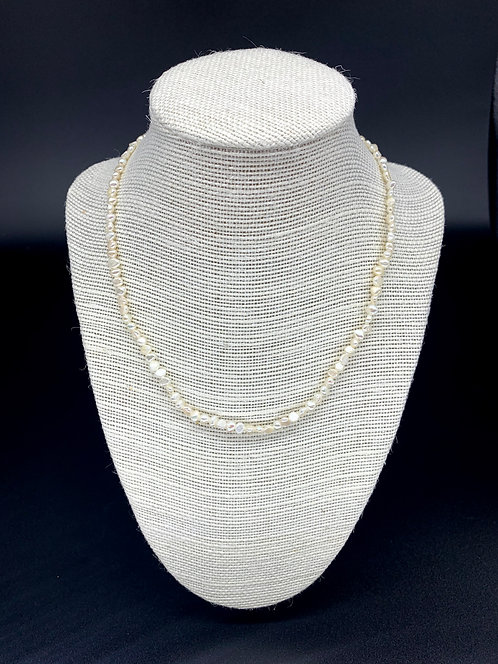 Fresh Water Baby Baroque White Pearl Necklace