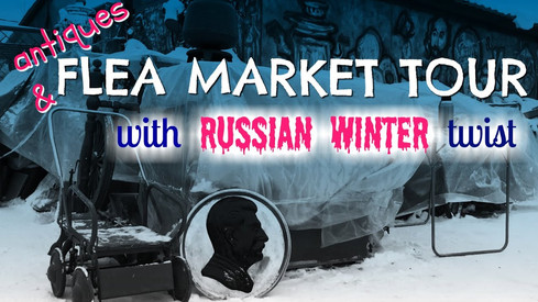 Russian FLEA MARKET under SNOW